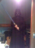Me dressed as Darth Vader (but with Luke's sword - I just killed him BTW)